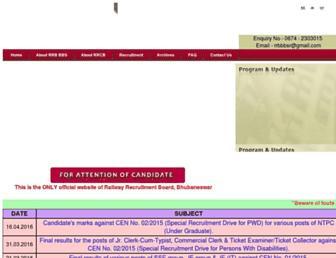 rrbbbs.gov.in screenshot