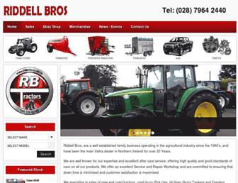 riddellbros.co.uk screenshot