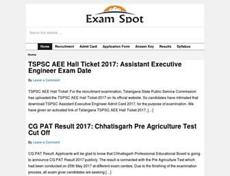 examspot.in screenshot