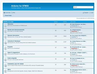 stm32duino.com screenshot