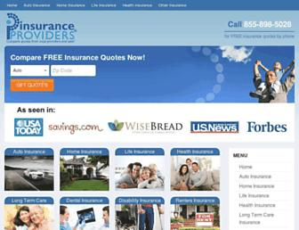 insuranceproviders.com screenshot