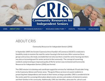 callcris.org screenshot