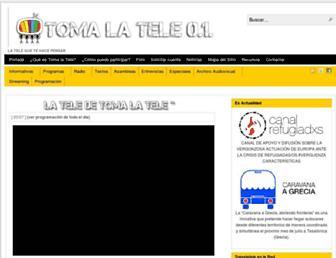 Main page screenshot of tomalatele.tv