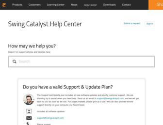 support.swingcatalyst.com screenshot