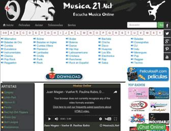 musica21.me screenshot