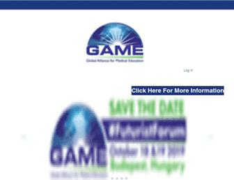 Main page screenshot of game-cme.org