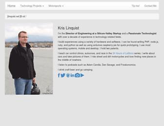Main page screenshot of linquist.net