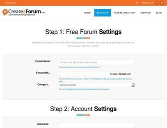 Main page screenshot of freeforum.ca