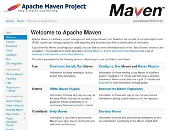 maven.apache.org screenshot