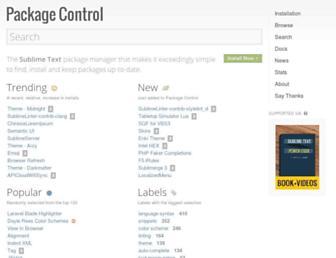 packagecontrol.io screenshot