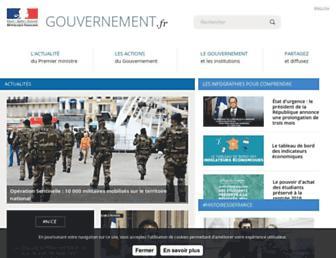 gouvernement.fr screenshot