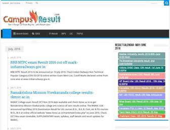 campusresult.com screenshot