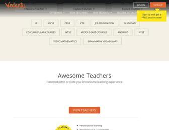vedantu.com screenshot