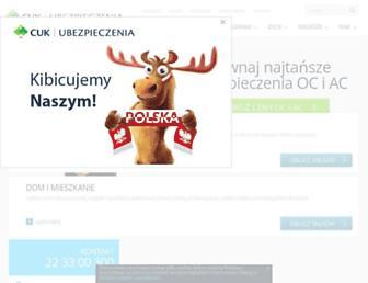 Main page screenshot of cuk.com.pl