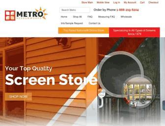 metroscreenworks.com screenshot