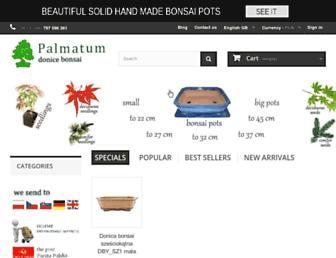 Main page screenshot of palmatum.pl