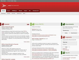 Main page screenshot of php.pl