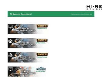 status.hirezstudios.com screenshot