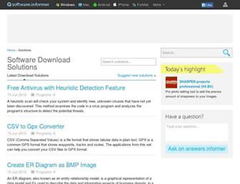 softwaresolution.informer.com screenshot
