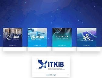 Main page screenshot of itkib.org.tr