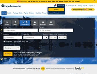 expedia.com.au screenshot