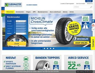 Main page screenshot of euromaster.nl
