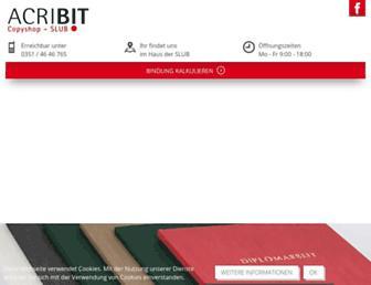 Main page screenshot of acribit-copyshop.de