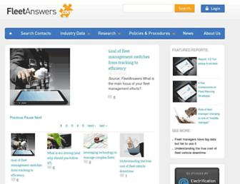 fleetanswers.com screenshot