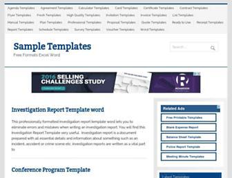 samplestemplates.org screenshot