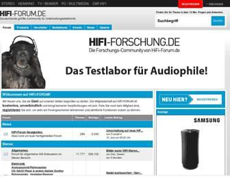 Main page screenshot of hifi-forum.de