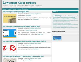 sekilaslowongankerja.blogspot.com screenshot