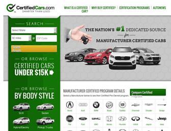 certifiedcars.com screenshot