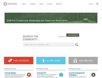 community.canvaslms.com screenshot