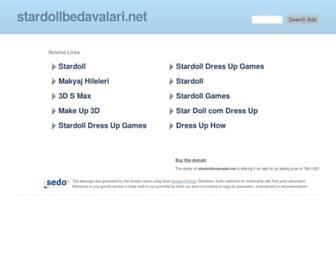 Main page screenshot of stardollbedavalari.net