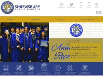 schools.shrewsburyma.gov screenshot