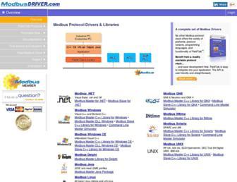 modbusdriver.com screenshot