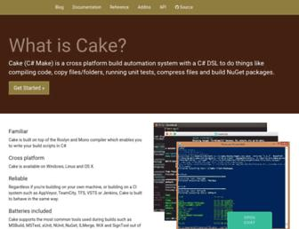cakebuild.net screenshot
