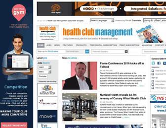 healthclubmanagement.co.uk screenshot