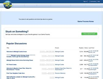 forums.bigfishgames.com screenshot
