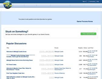 forums.bigfishgames.com screenshot