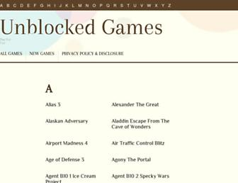 unblockedgames.blogbucket.org screenshot