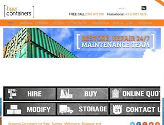 tigercontainers.com screenshot