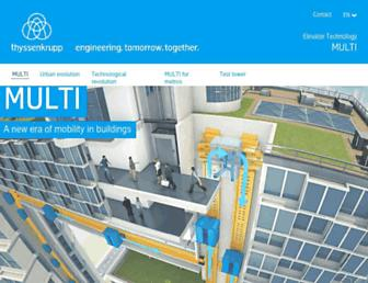 multi.thyssenkrupp-elevator.com screenshot