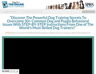 theonlinedogtrainer.com screenshot