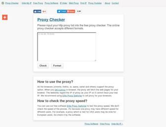 proxy-checker.org screenshot