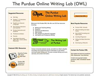 owl.english.purdue.edu screenshot