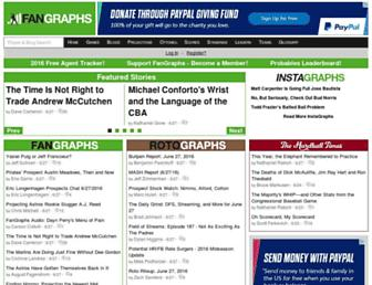 fangraphs.com screenshot