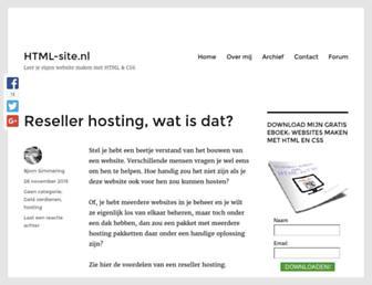 html-site.nl screenshot