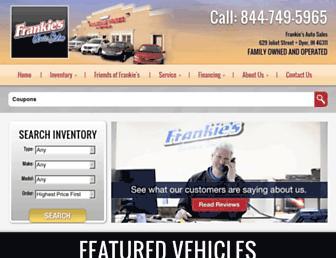 frankiesautosales.com screenshot