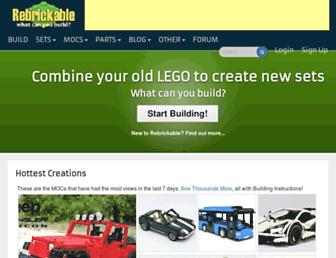 rebrickable.com screenshot